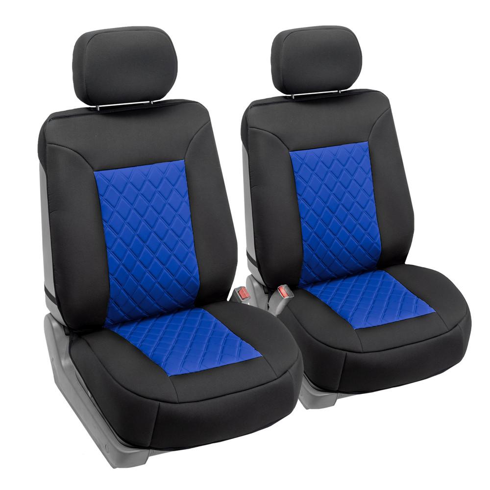 Neosupreme Deluxe Quality Car Seat Cushions - Front blue 4
