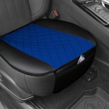 Faux Leather and NeoSupreme Seat Cushion Pad with Front Pocket - Black FB210102BLUE