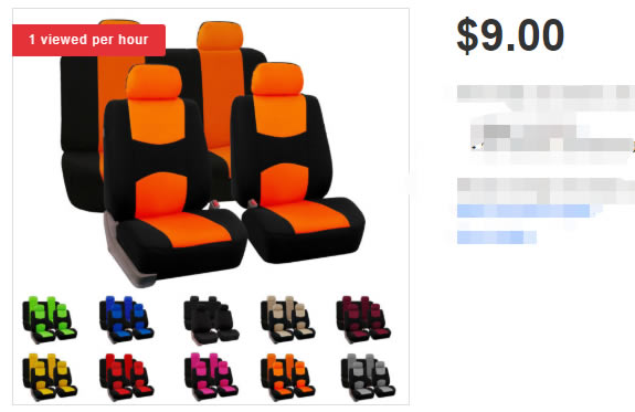 9 dollars car seat covers