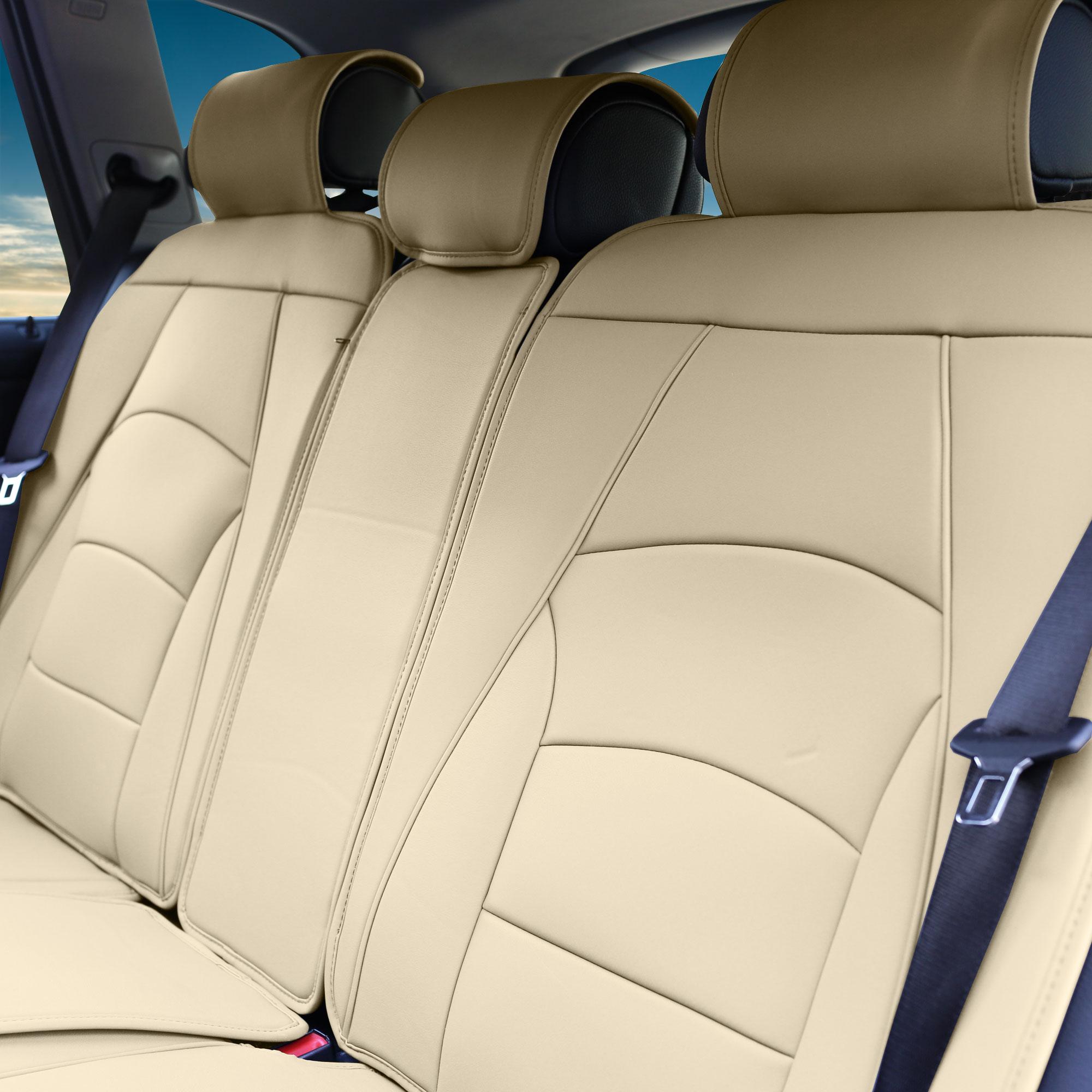 Ultra comfort leatherette beige seat cushions