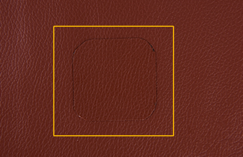 Fixed hole in leather