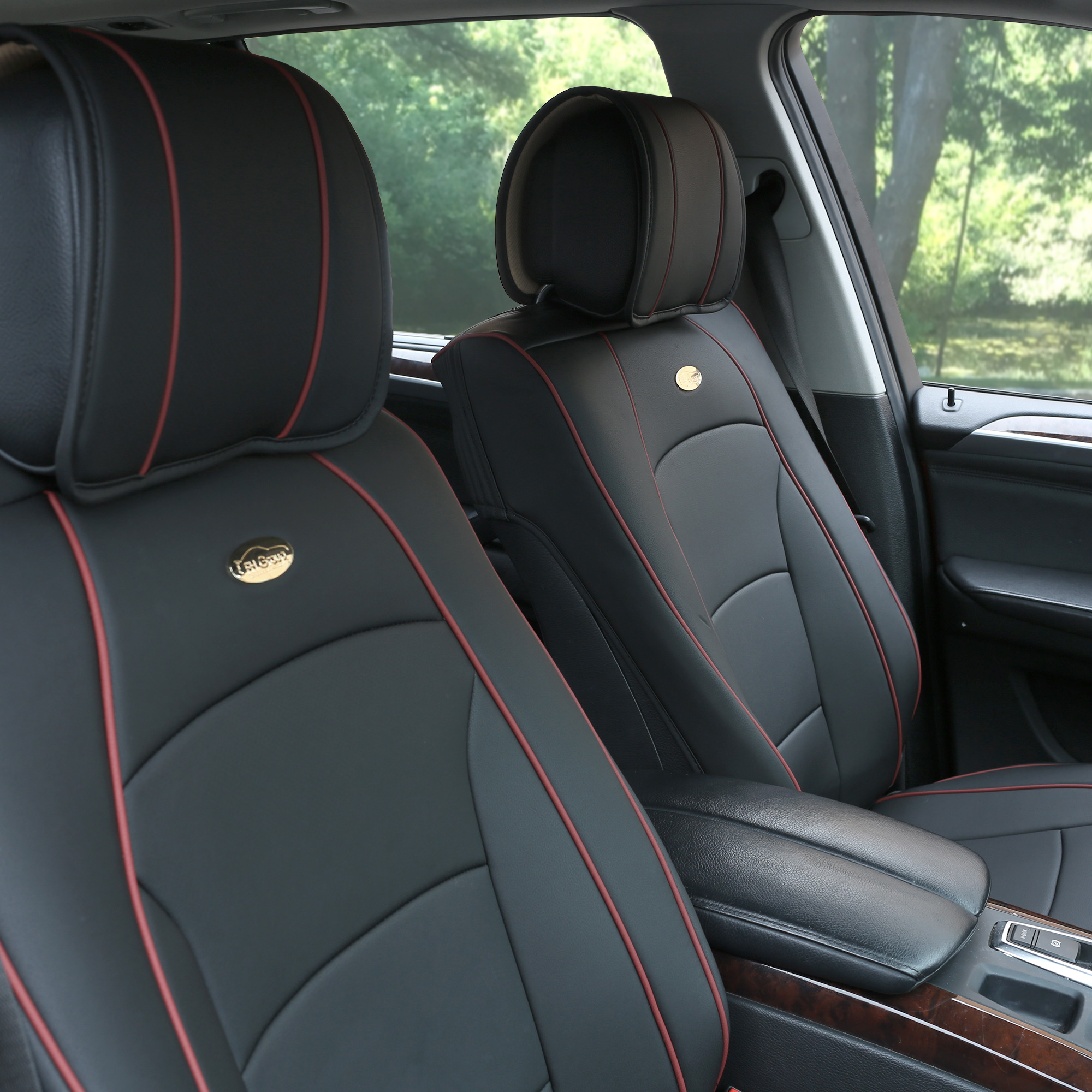PU205 Leather Black Seat Cushion