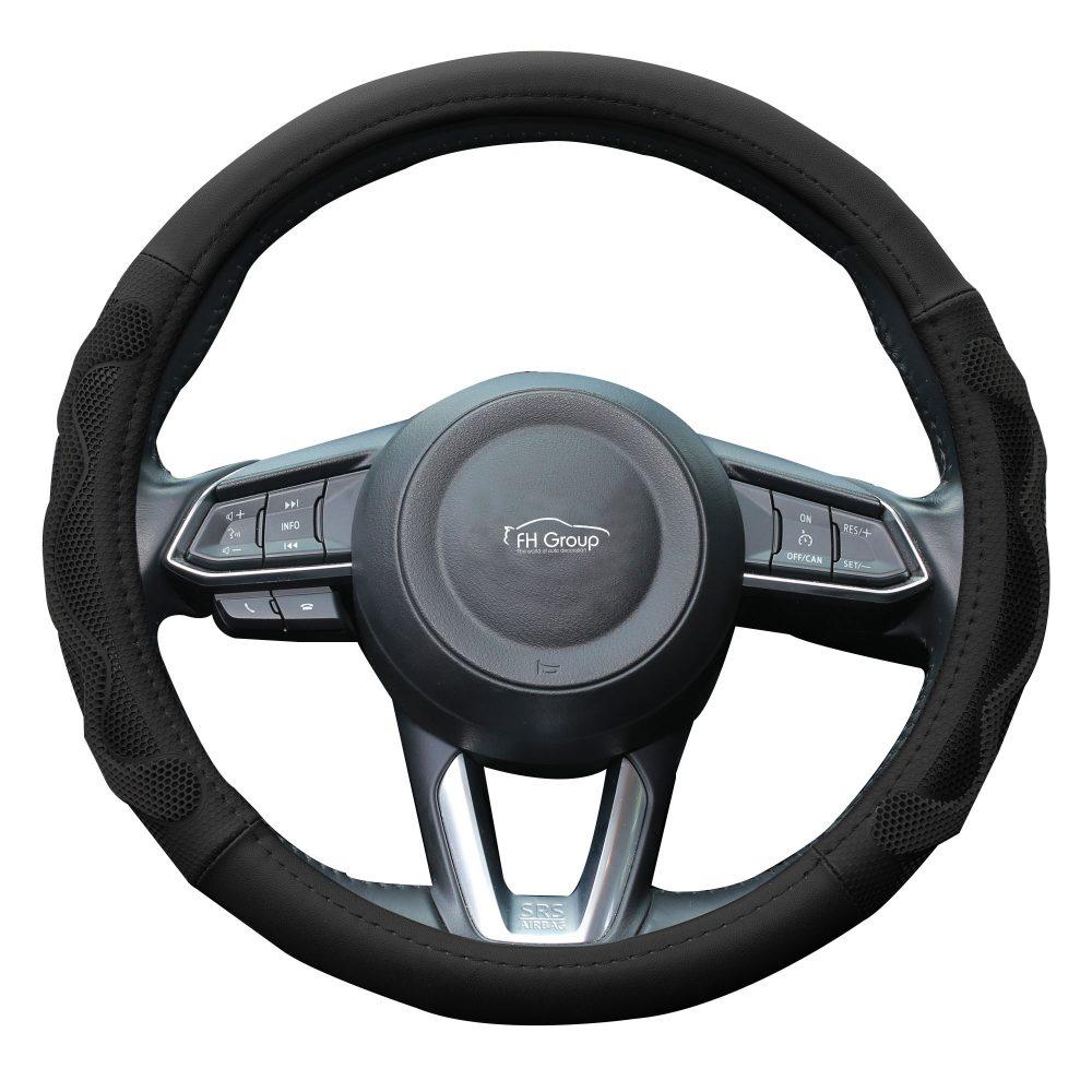 fh2010_black_whitebackground car steering wheel cover