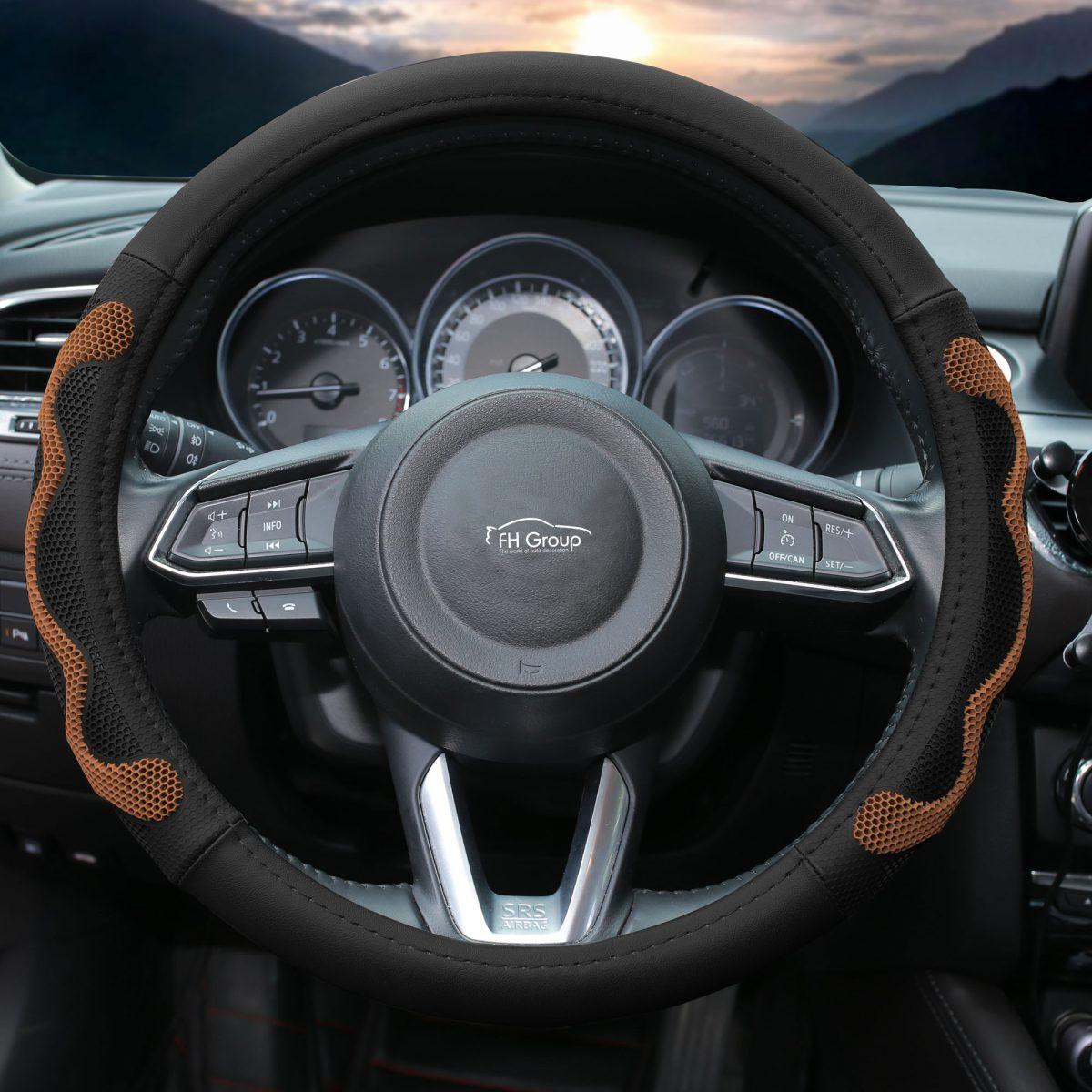fh2010_brown_2 car steering wheel cover