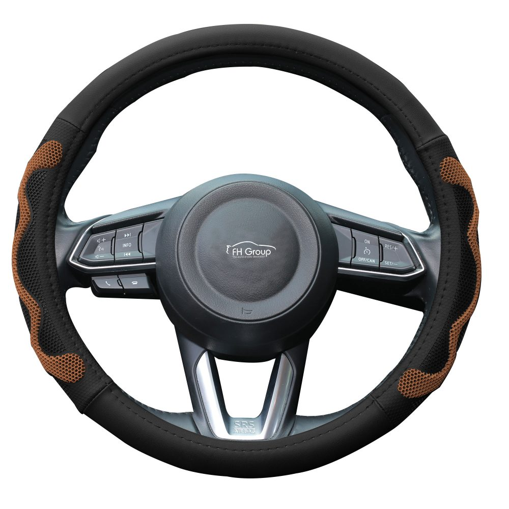 fh2010_brown_whitebackground car steering wheel cover