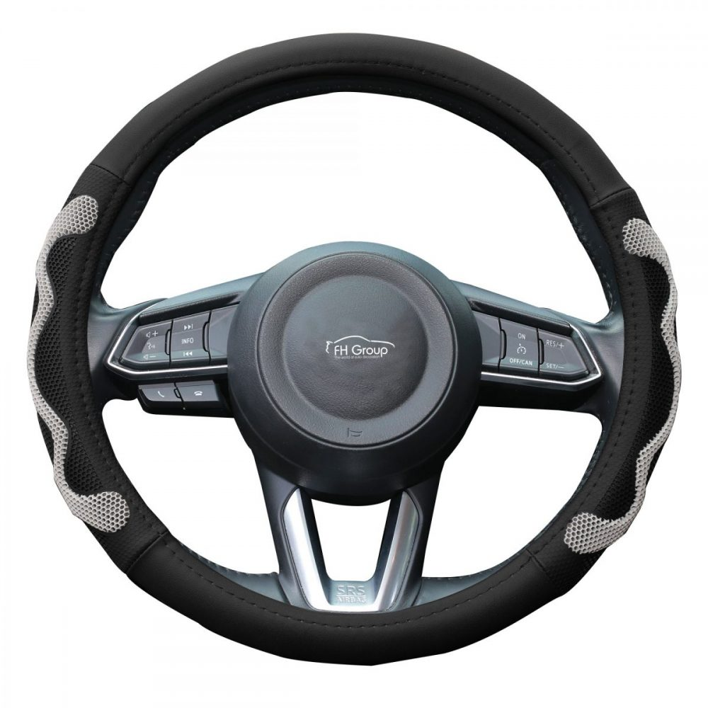 fh2010_gray_whitebackground car steering wheel cover