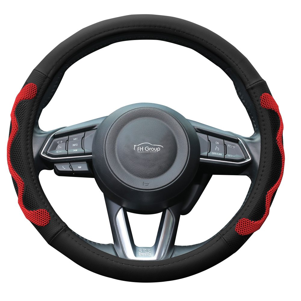 fh2010_red_whitebackground car steering wheel cover