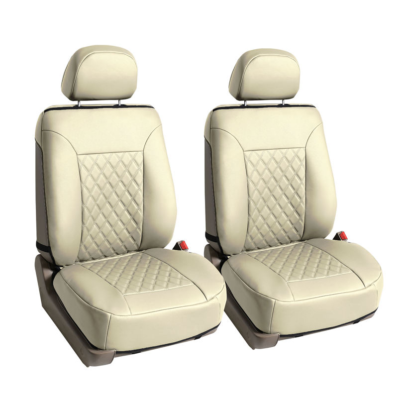 pu089beige car seat cushions