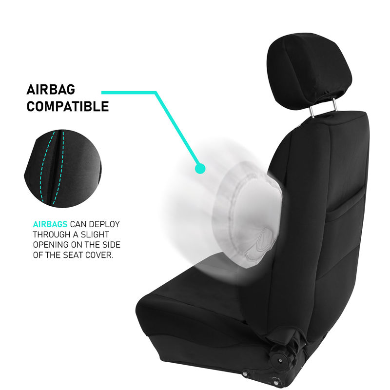 Universal Fit for Cars Trucks /& SUVs Black FH Group FB091102 Neoprene Ultra-Flex Seat Covers Front Set
