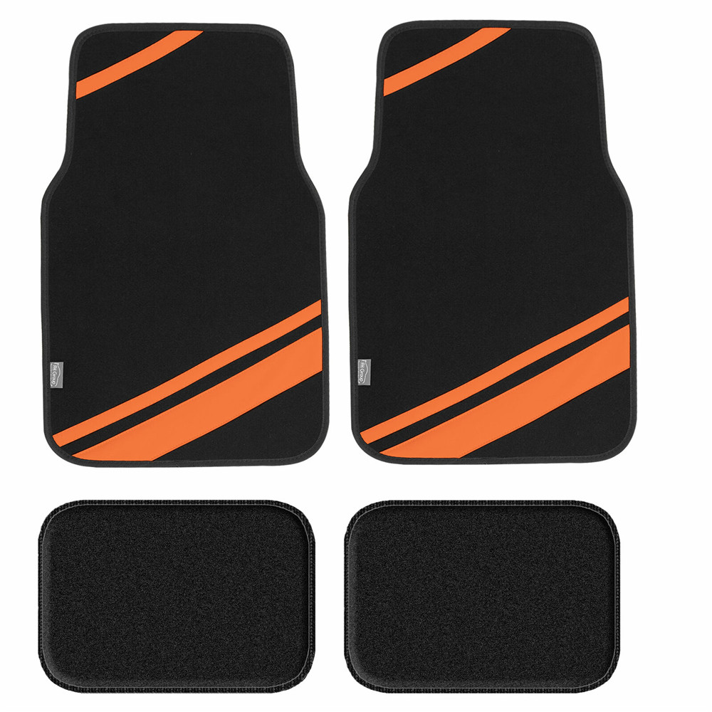 fh14501orange floor mats 1
