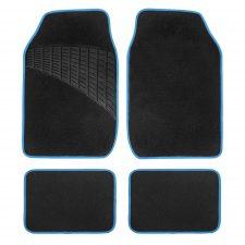 F14503 black blue carpet floor mats
