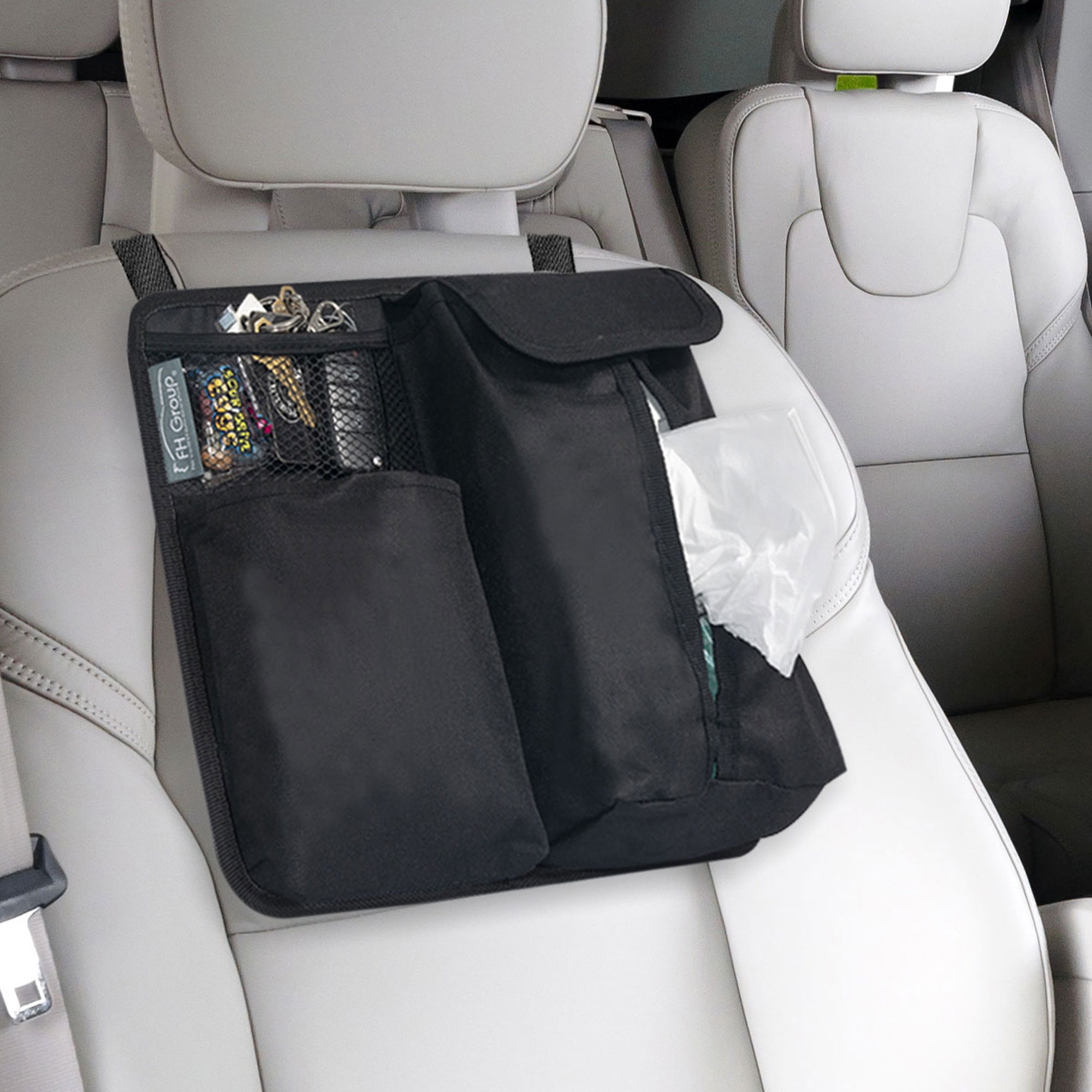 fh1136 black car organizer tissue dispenser