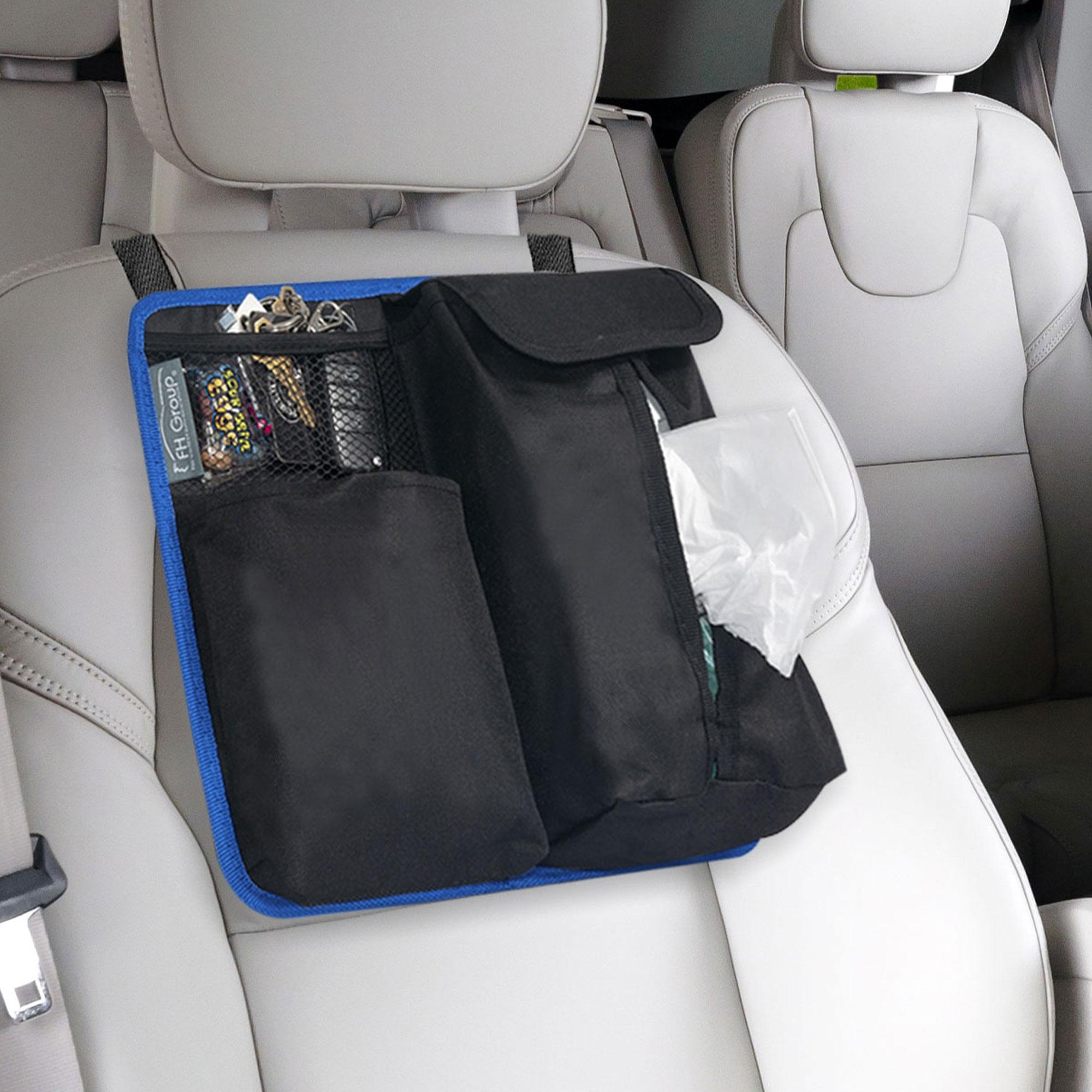 fh1136 blue black car organizer tissue dispenser