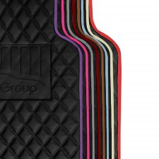 Deluxe Faux Leather Car Floor Mats -Full Set