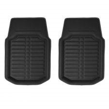 F14409 black non-slip PU leather floor mats