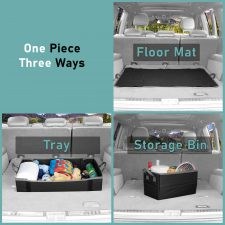 Car Trunk Storage Bin and Cargo Mat