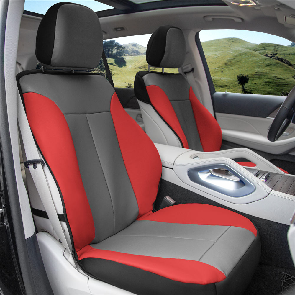 Apex90 Superior Faux Leather Car Seat Covers red