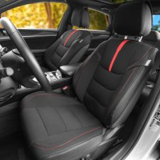 fb215 black red seat covers