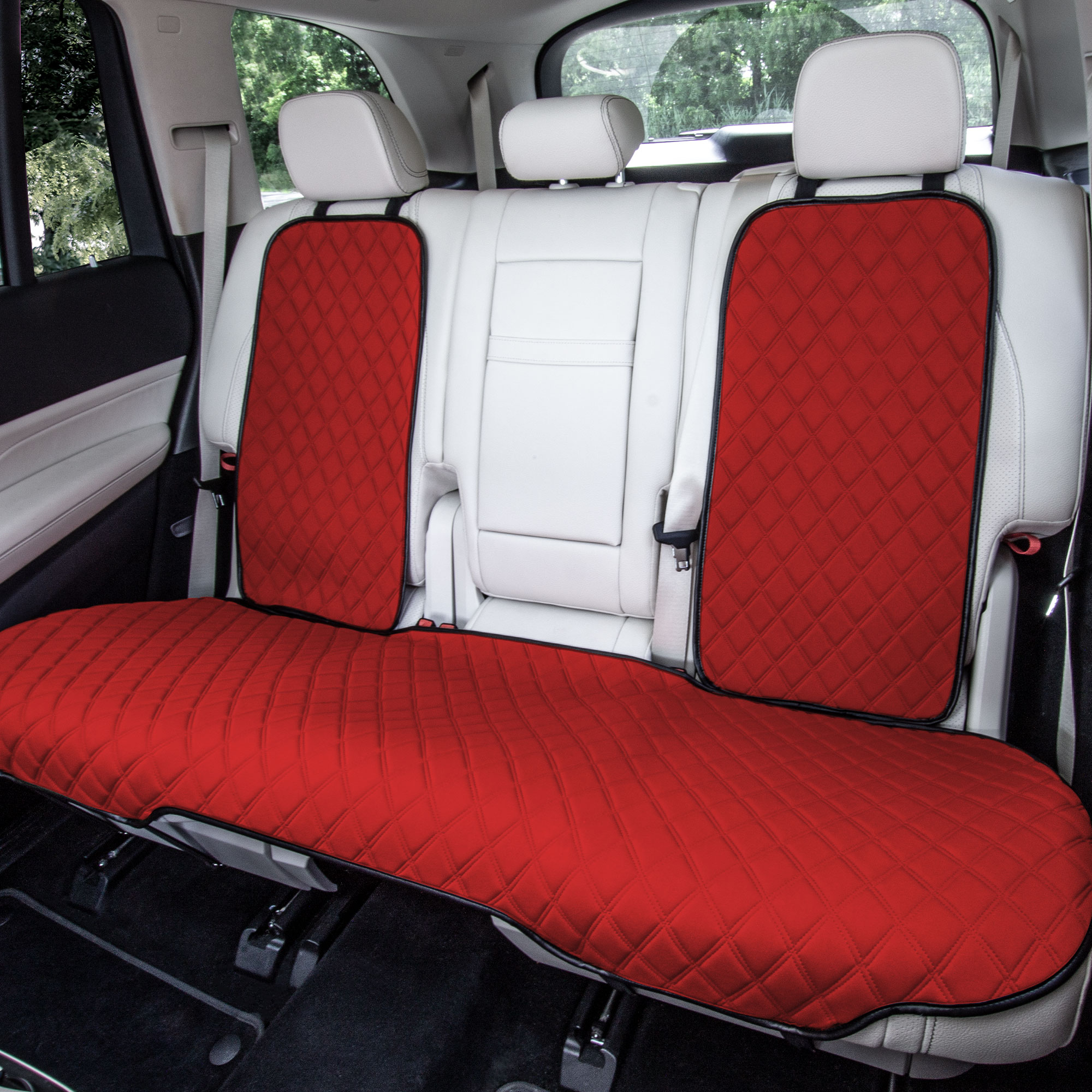 fh1026 RED seat protector cushions 1